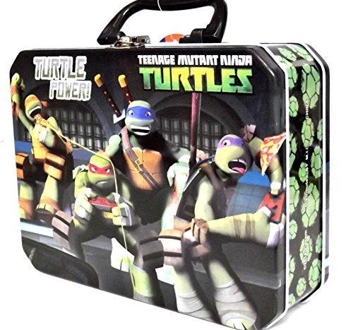 NICKELODEON NINJA TURTLES Children Tin LUNCH BOX Snack Carry Toys