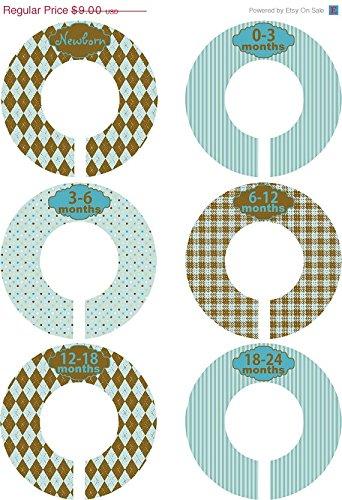 Little LillyBug Designs - Custom Closet Dividers - Nursery - Boy - Blue and Brown