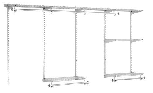 Rubbermaid 3G59 Configurations 4-to-8-Foot Classic Custom Closet Kit Titanium