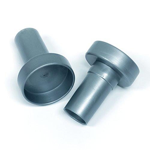 Rubbermaid Configurations Custom Closet Rod Endcaps Titanium 1807630