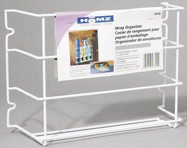 Homz Food Wrap Organizer Cabinet Door Steel 12 L X 3-14 W X 8-14 H White