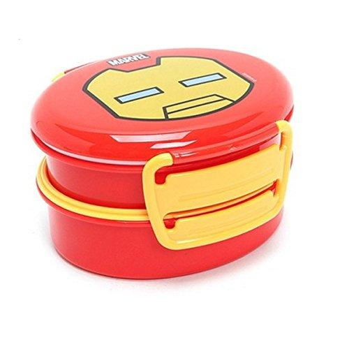 Marvel Iron Man Round School Lunch Box Bento Case