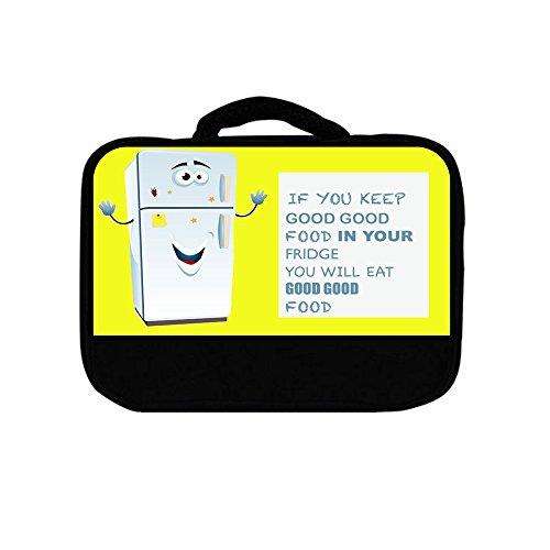 Fridge Food Cartoon Yellow Lunch Box Bags for Kids Boys and Girls