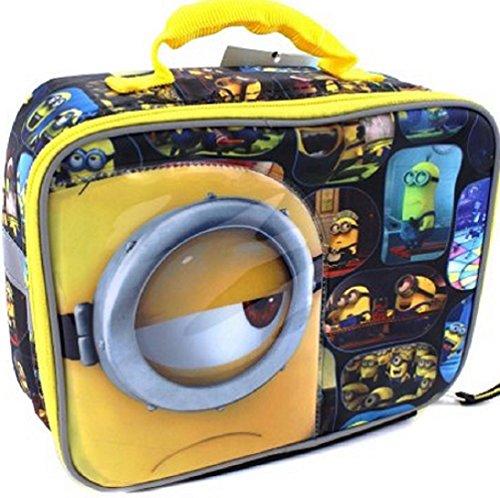 Lunch Box- Despicable Me - Minions Black Yellow Lunch Box  Bonus