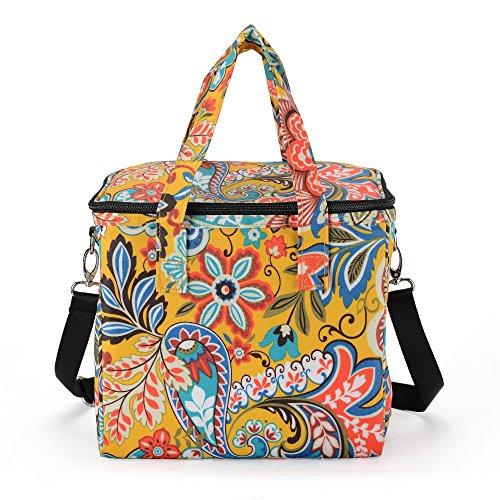 MELROSE Women Fashion Ultra Light Lunch Box Lunch Bag Macaroon Yellow