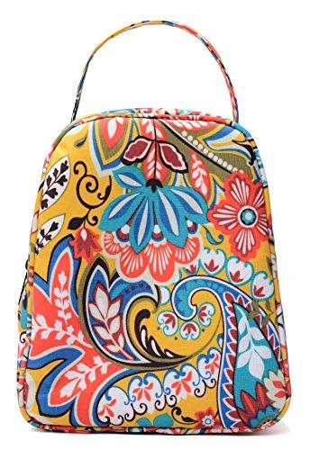 MELROSE Women Fashion Ultra Light Small Lunch Bag Lunch Handbag Box Macaroon Yellow