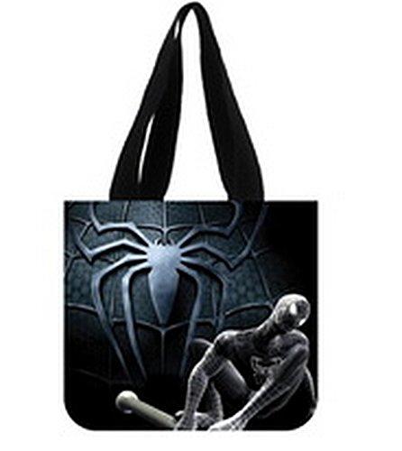Emana Spider Man Custom Canvas Shopping Tote Bag shoulder handbags for christmas gift Two Sides
