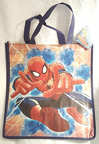 SPIDERMAN LARGE REUSABLE BAG ~ Spiderman with Web Design