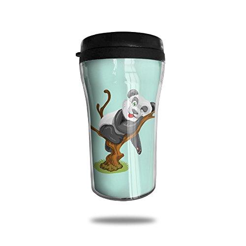 Stainless Steel Panda Vector Small Thermos Coffee Mug
