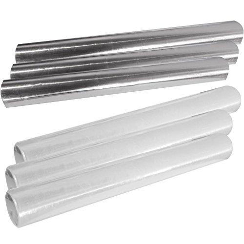 Food Storage Rolls 3 Foil 3 Plastic Wraps for Wraptastics Kitchen Set of 6