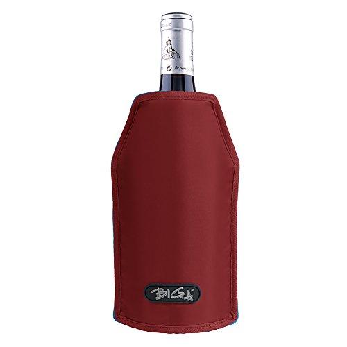 BIGA Active Wine Cooler Sleeve Bottle Chiller for Beer and Champagne Burgandy