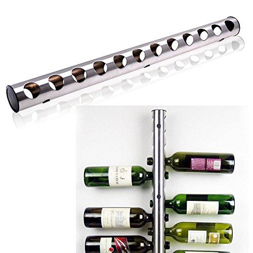 Stainless Steel Wine Rack Bar Wall Mounted Kitchen Holder 12 Bottles