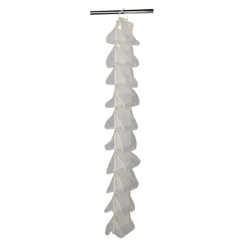 Household Essentials 311390 Hanging Shoe Storage Organizer for Closets -20 pocket - Natural Canvas