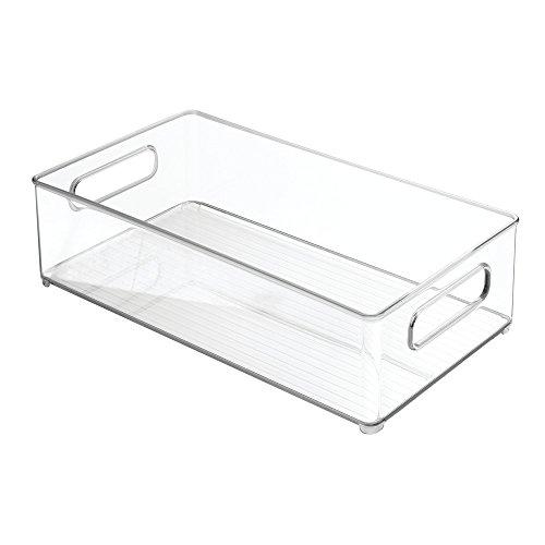 InterDesign Refrigerator and Freezer Storage Organizer Bins for Kitchen 8 x 4 x 145 Clear