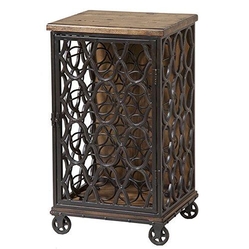 Stein World Furniture Jane Rae Wood and Metal Wine Rack Antique Brown
