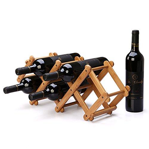 Folding wine rack creative fashionBamboo Home DecorationEuropean-style wine rack