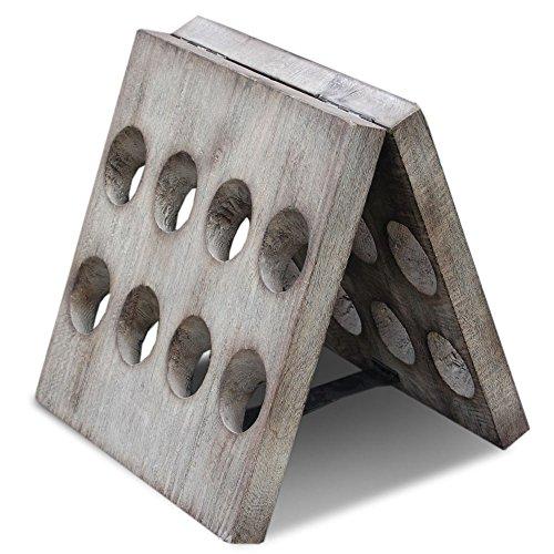 Jeffan Decorative Rustic 16-bottle Wooden Folding Wine Rack