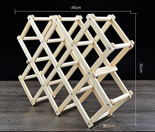 W&P Wood wine racks creative folding wine rack home ornaments
