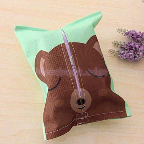 Cartoon Animal Tissue Paper Storage Box Cotton Linen Napkin Cover Holder 8 Color Type6