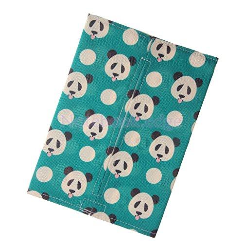 Cartoon Panda Pattern Tissue Paper Storage Box Car Napkin Case Cover Holder