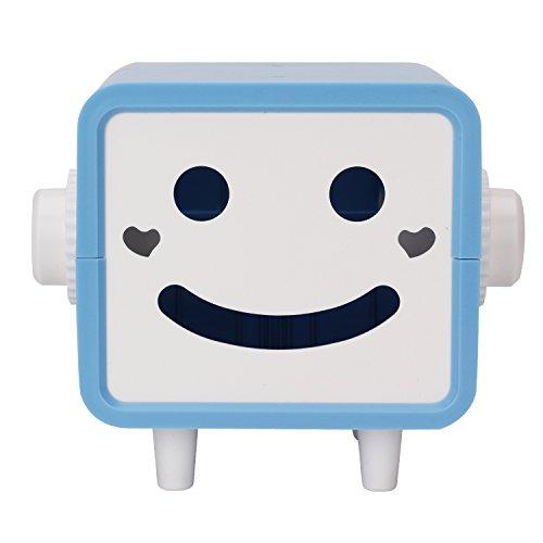 Creative Robot Tissue Box Bathroom Toilet Paper Holder Napkin Dispenser Tissue Paper Storage Containers Color Blue