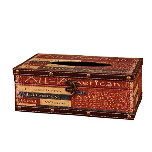MuNiSa Waterproof Tissue Paper Storage Box Napkin Case Cover HolderAllLarge