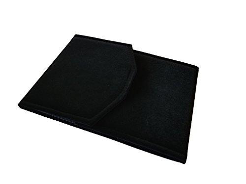 Necklace Presentation Folder Jewelry Organizer CASE Display Storage Gift Box Black Velvet Large