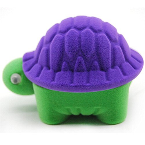 Yiphates Cute Turtle Jewelry Storage Box Velvet Earrings Ring Holder Storage Gift Case for Girls Woman Purple