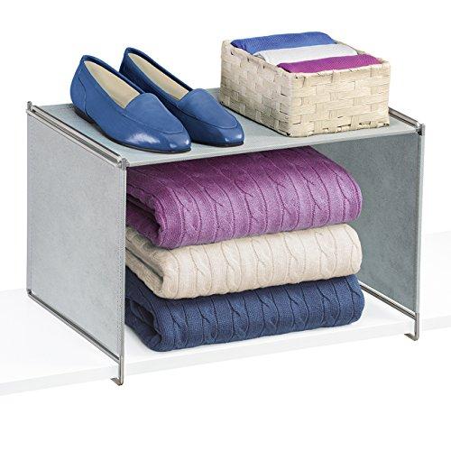 Lynk Vela Locking Closet Shelf Organizer - Extra Shelf - Platinum