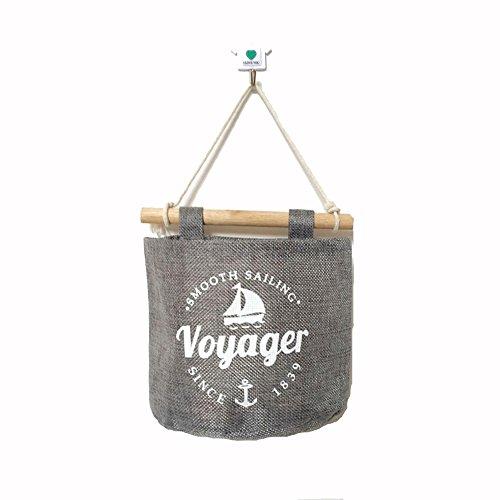 BestWare Hanging Storage Organizer Storage Pouch Hanging Storage Bag Wall Storage Bags Hanging Storage Pockets Sailboat 3