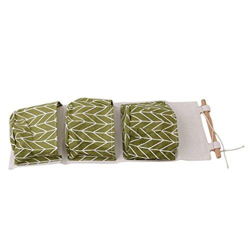 HS Cotton Linen Wall Door Magazine Storage Pockets loset Hanging Storage bag organizer Green