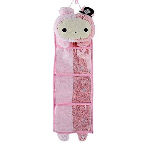 Leegoal Wall Hanging Storage Bag 3 Pockets 3 Designs rabbit