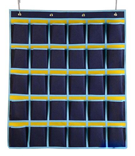 WODISON Classroom Cell Phones Pocket Chart Wall Hanging Storage Case Bag-30 Pocket