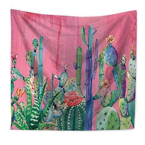 PYHQ Tropical Cactus Wall Hanging Tapestries Bohemia Boho Gypsy Mandala Urban Picnic Blanket Art Hippie Curtain Yoga Mat Tablecloth Bed Spread Dorm Decor Jungle Succulent Plants