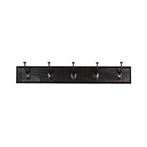 Sumner Street Home Hardware RL061107 30 Rustic Coat Hook Rail - Ebony