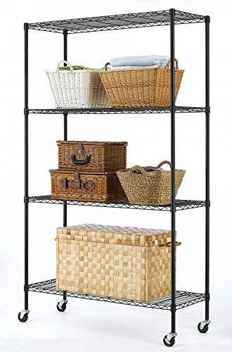 82x48x18 Commercial 4 Tier Shelf Adjustable Steel Wire Metal Shelving Rack 74 by BestOffice