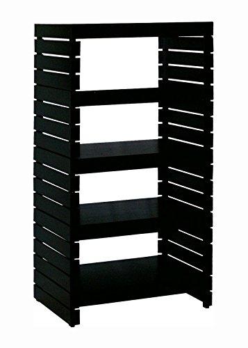 Organize It All 39655W 4-Tier Shelf Black
