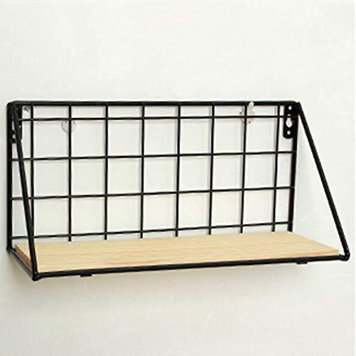 Rodalind Iron Wall Shelf Wall Mounted Storage Rack Organization for Bedroom Kitchen
