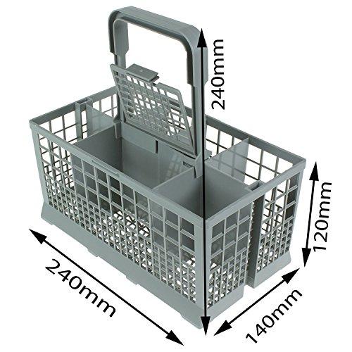 First4Spares Universal Dishwasher Cutlery Silverware Basket Holder Grey