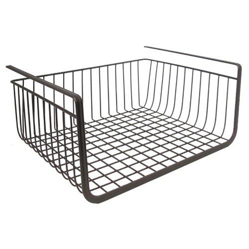 InterDesign York Lyra Kitchen Pantry Under Shelf Organizer Basket Bronze