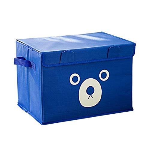 ZXL Foldable Oxford Cartoon Cute Bear Storage Box for Clothes Underwear Bra Socks Kid Toys Organizer Home Storage Bins Color  Blue