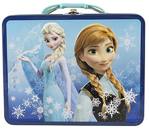Disney Frozen 3D Design Embossed - Metal Tin Lunchbox Navy