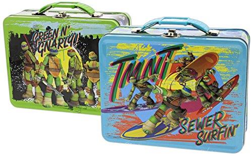 Bundle of 2 Assorted Tin Box Co 75 Lunch Boxes - Teenage Mutant Ninja Turtles