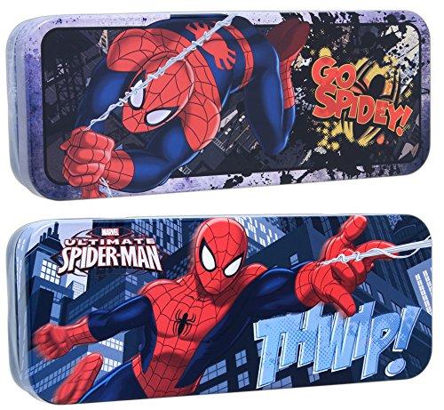 Bundle of 2 Tin Box Co Spider-man 8 x 3 Storage Tins