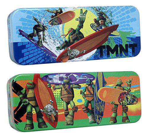 Set of 2 Tin Box Co Teenage Mutant Ninja Turtles 8 x 3 Storage Tins