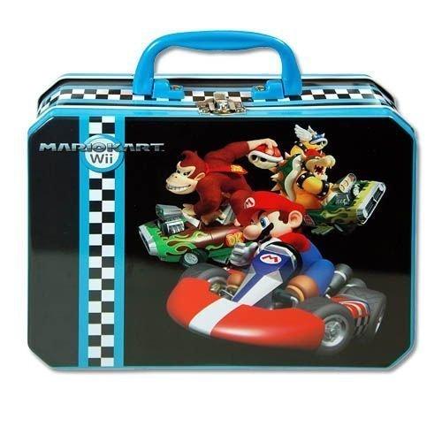 Super Mario MarioKart Wii Deluxe Rectangle Tin Box With Plastic Handle