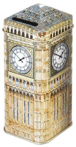 Ahmad Tea 20 Teabag Caddy English Breakfast Gift Tin Big Ben 14 Ounce