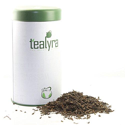 Tealyra - Ripe Puerh Tea - 5 Years Aged Loose Leaf - 100 Natural And Organic - Caffeine Level High - Weight Loss Tea - Aged Black Tea Pu Er - Gift Tin - 113g 4-ounce