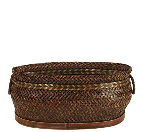 Wald Imports Brown Bamboo 1375 Decorative Storage Basket