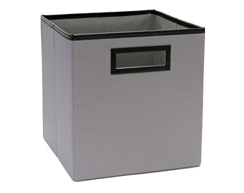 ClosetMaid 1143 Cubeicals Premium Fabric Bin with Decorative Trim Ash Gray